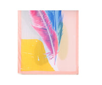 Pink large placement feather print