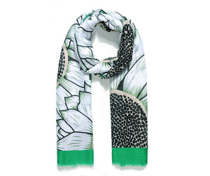 Large sunflower print scarf