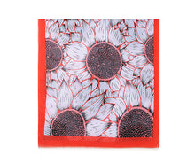 Load image into Gallery viewer, Large sunflower print scarf