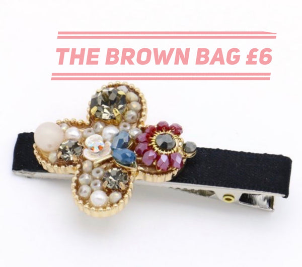 Flower jewelled clip