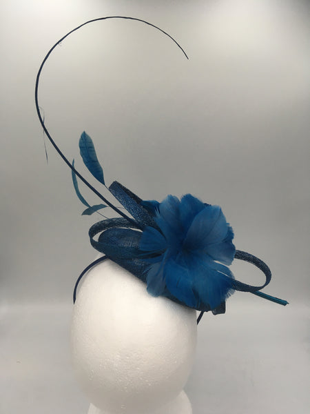 Teal Statement Fascinator