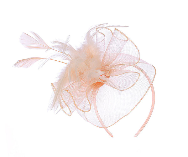 Large Pink Organza Fascinator