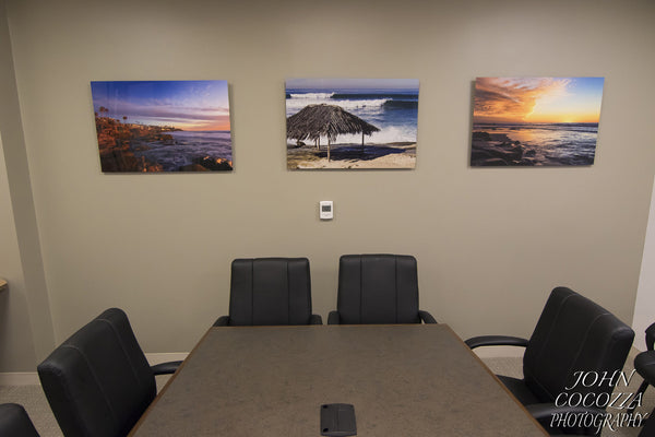 American Dream Homes Redecorates Office with Metal Prints by John Cocozza Photography