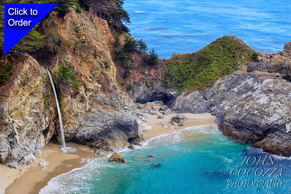 mcway falls big sur photos for sale as art to decorate homes and offices