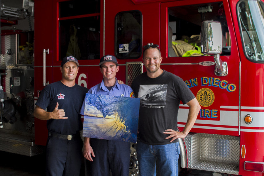 san diego fire dept winner of metal print from john cocozza photography