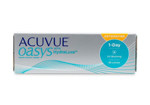 ACCUVUE OASYS 1-Day with HydraLuxe for Astigmatism (30 Pack) (3851299749948)