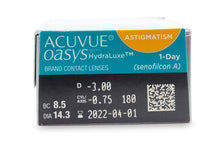 Load image into Gallery viewer, ACCUVUE OASYS 1-Day with HydraLuxe for Astigmatism (30 Pack)