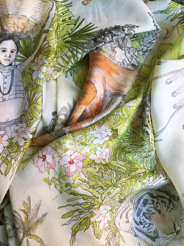 "FARA SILK SCARF ""JUNGLE BOOK"""