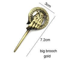Game of Thrones Song of Ice and Fire Brooch Hand of the King Lapel Inspired Authentic Prop Pin Badge Brooches Movie Jewelry