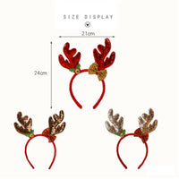 Newest Antlers Reindeer Headband Christmas Elk Hair Band Xmas Headband Accessories Hair Clasp Fancy Dress Up Cosplay Party Decor