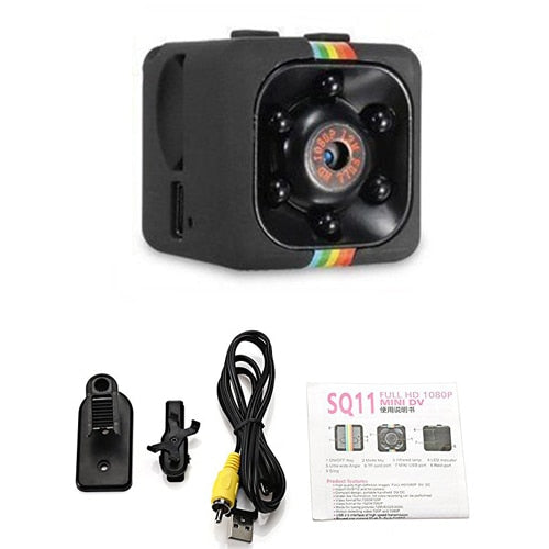 SQ11 mini camera 1080P HD Sport DV DVR Monitor Concealed camera SQ 11 night vision micro small camera Mini camcorder