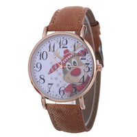 Women's Watches Watch reloj mujer Clock relogio feminino Christmas Pattern Quartz Watch Leather Strap Belt Table Watch Wholesale