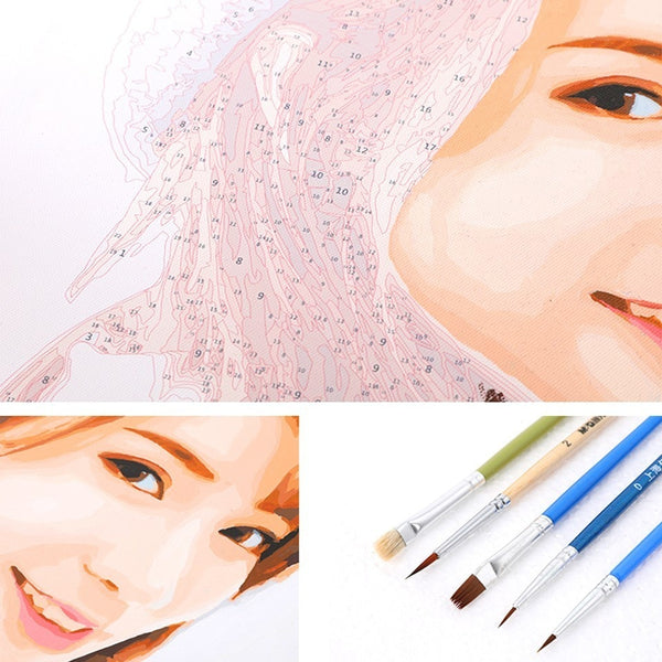 Frameless Customize Oil Paintings DIY Drawing Coloring by Numbers