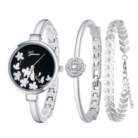New Fashion Quartz Watch for women's Set Boutique Trends Geneva Style Watch Jewelry Set Christmas Gifts Birthday Gifts