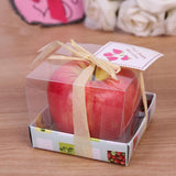 Fruit Candles Christmas Simulation Artificial Apple Shape Candles Christmas Eve Wedding Party Decoartion Supplies Creative Gift