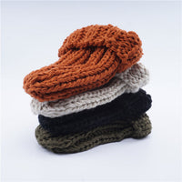 Winter Women Hat 2019 New Autumn Faux Fur Female Warm Cap Knitted Beanie Girl Hats Woman Bonnet Femme Chunky Thick Stretchy Hats