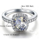 925 Sterling Silver Rings For Women Bridal Wedding Anelli Trendy Jewellery Engagement White Gold Color Anillos Mujer