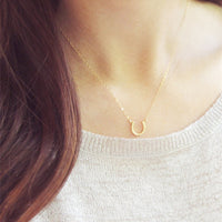 Horseshoe Necklace Women Jewelry Horse Hoof Necklaces Cute U Necklace Small Simple Paw Necklaces
