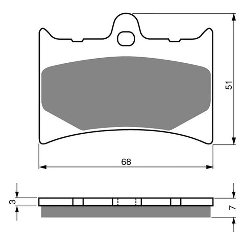 BRAKE PADS GOLDFREN  GF019-S3