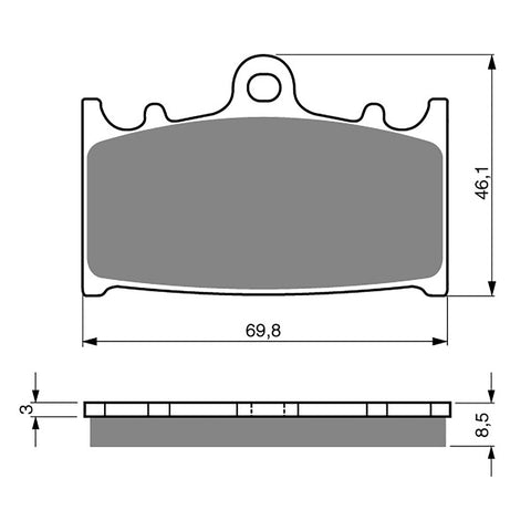 BRAKE PADS GOLDFREN  GF032-S3