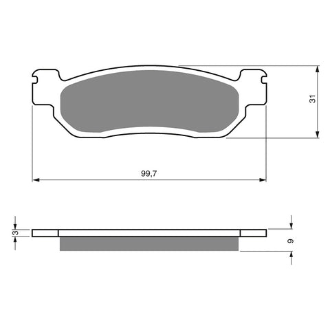 BRAKE PADS GOLDFREN  GF146-S3