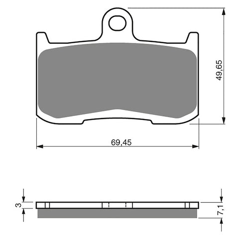BRAKE PADS GOLDFREN  GF207-S3