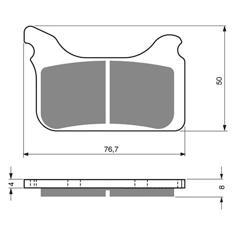 BRAKE PADS GOLDFREN  GF231-S3