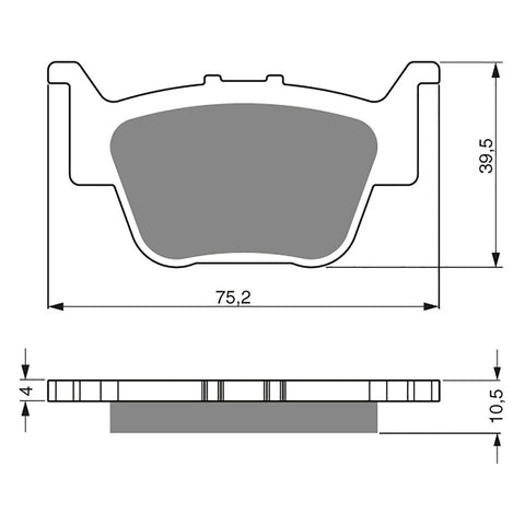 BRAKE PADS GOLDFREN  GF243-K5