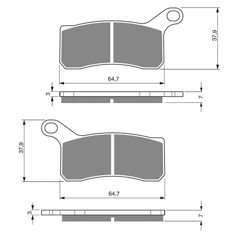 BRAKE PADS GOLDFREN  GF261-K5