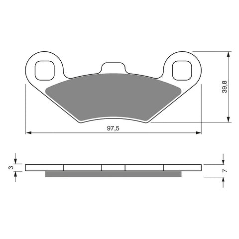 BRAKE PADS GOLDFREN  GF280-K5