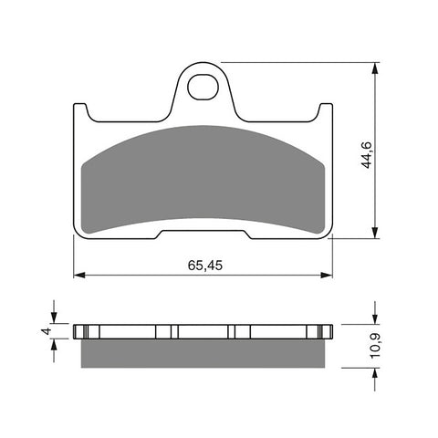 BRAKE PADS GOLDFREN  GF281-K5