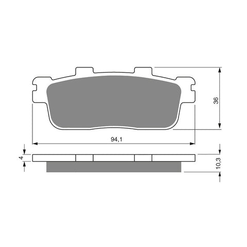 BRAKE PADS GOLDFREN  GF286-S3
