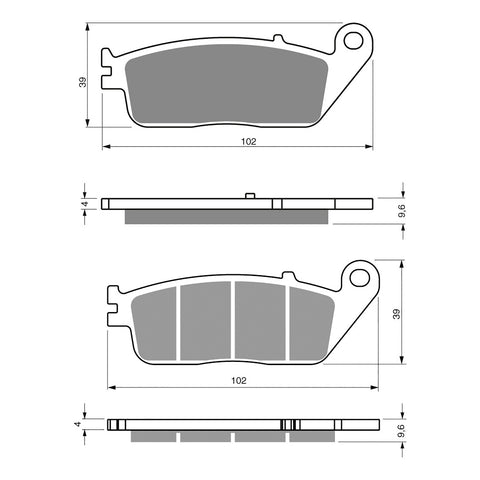 BRAKE PADS GOLDFREN  GF333-S3