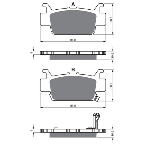 BRAKE PADS GOLDFREN  GF382-K5