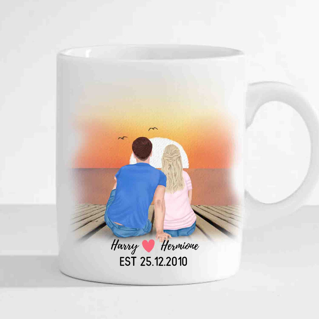 Personalized Anniversary Mug (Customized Pictures, Names and Date)