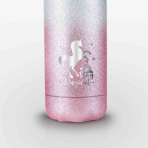 Unicorn Glitter Stainless Steel Water Bottle (Pink)