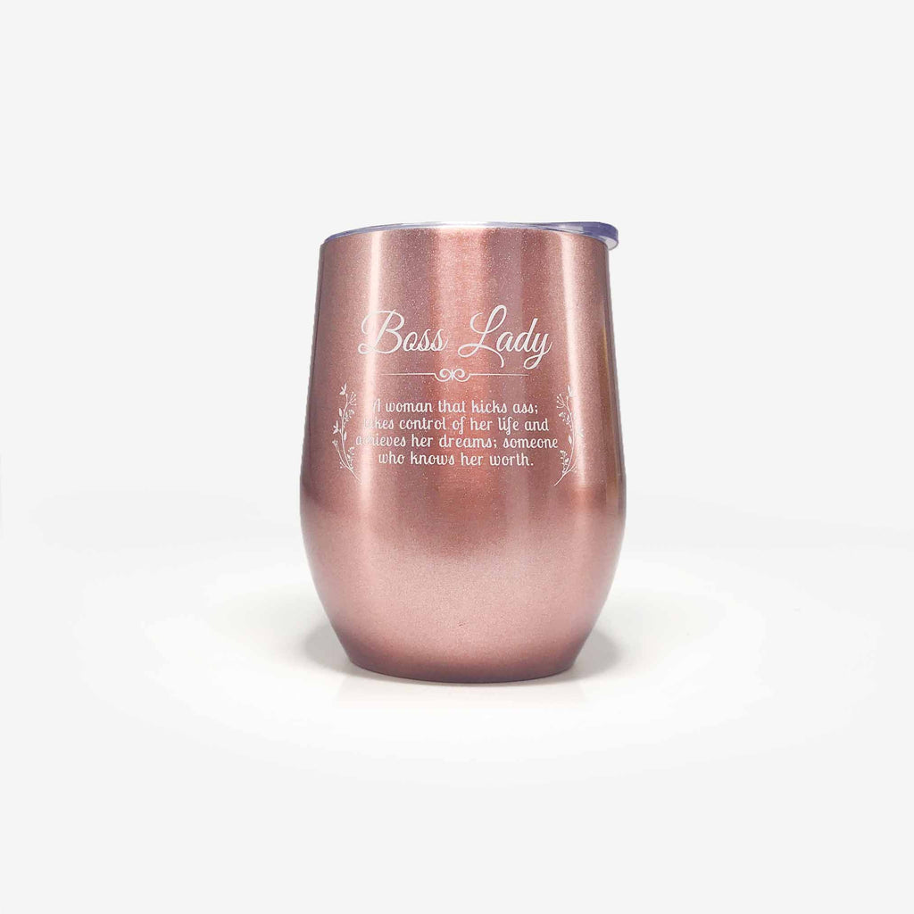 Boss Lady Gifts for Female Boss (12oz, Rose Gold) | Onebttl