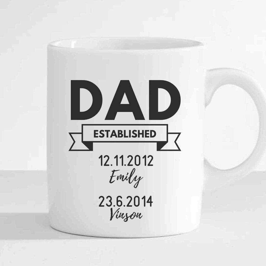 Personalized Dad Mug Gifts (Customized Name and Date of Birth)