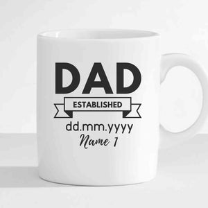 Personalized Dad Mug (Customize Name and Date of Birth)
