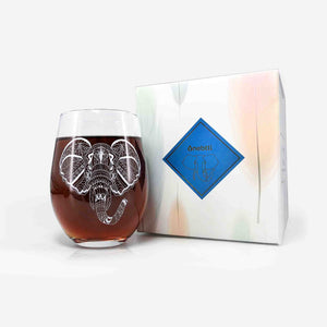 Elephant Stemless Wine Glass | Onebttl