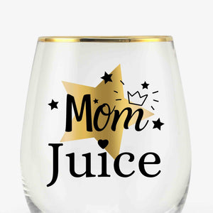 Funny Mom Wine Glasses