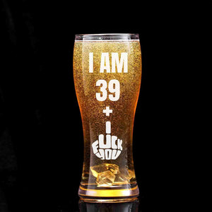 40th Birthday Beer Glass