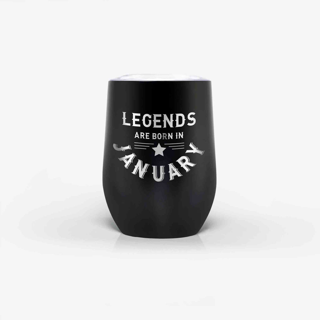 legends are born in January tumbler