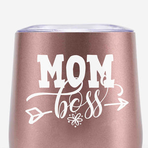 Boss Mom Tumblers (Rose Gold)
