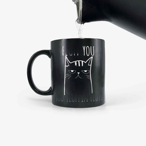 Funny Cat Mug - You Fluffin' Fluff Color Changing Magic Cup
