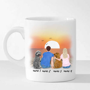 Personalized Dog and Owner Mug (Customized Pictures and Names)