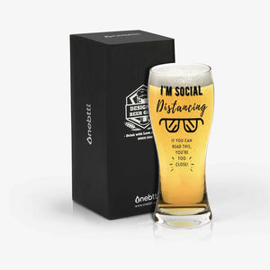 I'm Social Distancing Beer Glass
