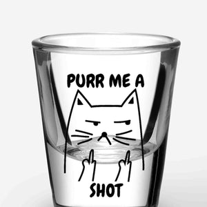 Cat Shot Glasses - Purr Me A Shot (A Pair)