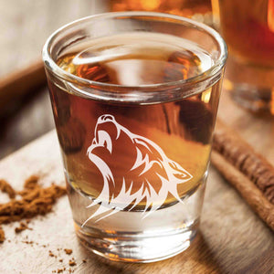 Wolf Shot Glasses (A Pair)