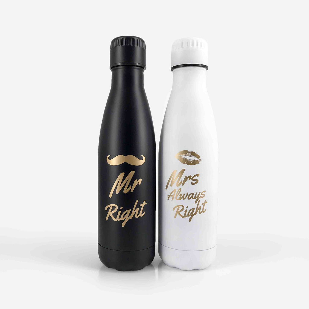 Mr and Mrs Gifts - Stainless Steel Bottle Set | Onebttl